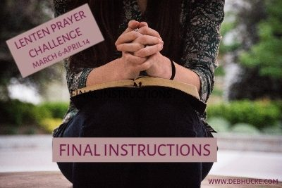 Final Prayer Challenge instructions